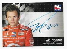 DAN WHELDON 2007 Rittenhouse IRL Indy Autographed Card
