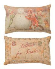 "Primitive By Kathy Christmas Throw Pillow ""Merry Christmas Letter to Santa"""