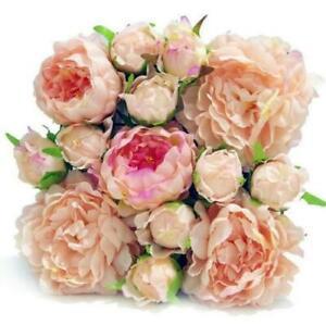 10Pcs 30x30cm Premium Artificial Fake Flower Rose Wall Panel Wedding Decor