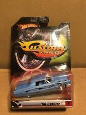 Hot Wheels Custom Classics '68 Cadillac Real Riders Blue Black Flames