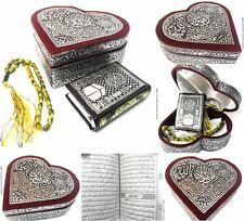 Kleine Coran étui coeur + CHAPELET + Musulman Islam Hijab abaya Allah tesbih