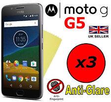 3x Protector de Pantalla Antirreflejo HQ Mate cubierta Protector para Motorola Moto G5 5th generación