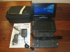 "Panasonic DVD-LS855 8.5"" Portable DVD Player W/Car Adapter & Carrying Case WORKS"