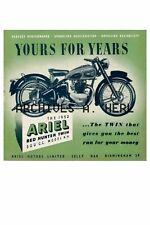 Ariel Red Hunter Motorcycle print poster  ca 8 x 10 poster PRICE PER PRINT