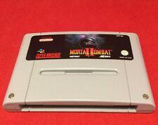 Mortal Kombat Ii 2-Cartucho únicamente-Super Nintendo-SNES-PAL-Probado