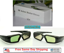 Active Shutter 3D Glasses Acer/BenQ/Sony/Optoma/Dell DLP Link Projector(Black)