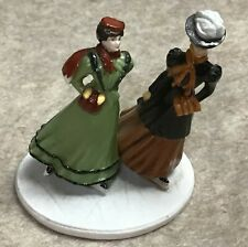 Franklin Mint porcelain miniature of Victorian ice skaters