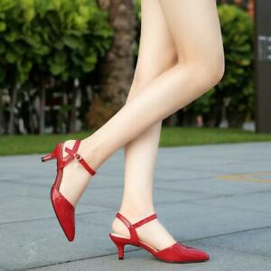 Womens Mary Jane Kitten Heels Slingbacks Crossdresser Work Court Shoes Plus Size