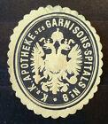 Siegelmarke um 1900 , k.u.k. Apotheke des Garnisions-Spitals No. 8