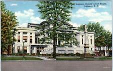 LAURENS, South Carolina  SC    LAURENS COUNTY COURT HOUSE c1940s Linen Postcard
