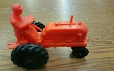 "Vintage 5"" Orange Plastic Tractor Ohio"