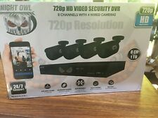 Night Owl 8-Channel Security Camera System, 720P Ahd Dvr, 4 Cam Indoor/Outdoor