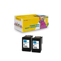 2PK Compatible Black Ink Cartridge for HP74XL Deskjet D4200 Officejet J5700