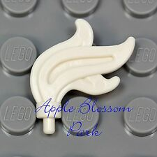 NEW Lego Minifig WHITE FEATHER PLUME Pirate Castle Knight King Helmet Armor Flag