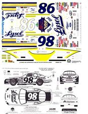 #98 Elton Sawyer Lysol Ford 300th Start 1/24th - 1/25th Scale Slixx Decals