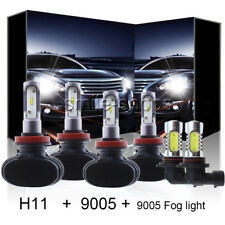 For Dodge Ram 1500 2500 3500 09-2018 100W H11 9005 9145 LED Headlight+Fog Bulbs