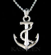 Nautical YACHT CLUB ANCHOR Marine Boat Necklace Jewelry Unisex Men Women Gift