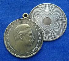 Preussen/Italien - Zweiteilige Messingmedaille o. J. - Wilhelm II. / Umberto I.