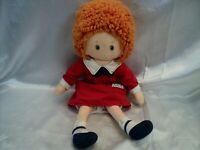 Knickerbocker Little Orphan Annie c.1982 Plush Stuffed Cloth Rag Doll
