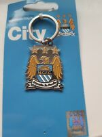 New Manchester City Crest Keyring Official Football Club Merchandise 40mm x 30mm