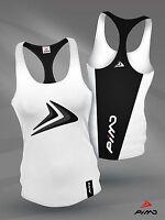 PIMD Deity Female Vest - White/ Black Running Racer Gym Sports Top Workout Lift