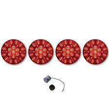 75-82 Chevy Corvette Red LED Tail Light Lamp Lens & Flasher 1975 1976-1982 Set