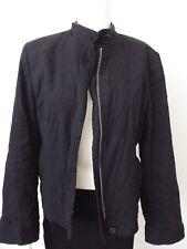 Banana Republic Jacket Size 12 Pockets Zipper Front Black Jacket
