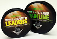 Korda SUBline Tapered Leader / Mainline Coarse Carp Match Fishing Line All Sizes
