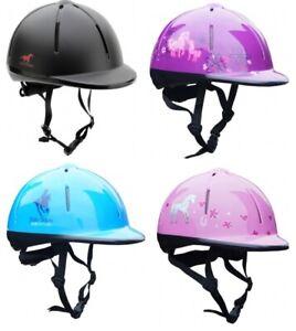 Horka Red Horse Childrens Kids Adjustable Horse Riding Hat/Helmet ALL COLOURS