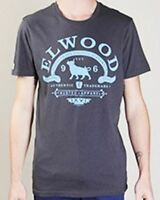 **NEW**ELWOOD** dark grey tshirt - sz M RRP$59.95