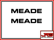2 x Meade Vinyl Logo Stickers in Black