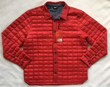THE NORTH FACE Men's Lost Coast Thermoball Jacket Red Quilted Puffer NEW $149 XL