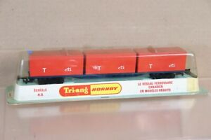 TRIANG HORNBY R7340 CANADIAN FREIGHTLINER T cti CONTAINER WAGON SEALED nx