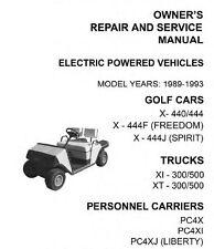 EZ Go Electric and Gasoline Golf Carts, Trucks, Service Manuals 1970-1993 on CD