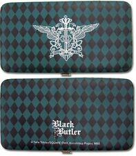 **Legit** Black Butler Ciel Phantomhive Emblem Authentic Clutch Wallet #81509