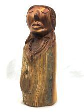 Navajo Juniper Dine Lady Wood Carver Signed Harry Benally #A46