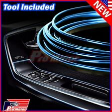 5M Blue Interior Door Panel Gap Edge Side Line Molding Trim Strip Insert Deco