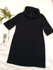 Lane Bryant Womens Sz 14 16 Black Basic Career Dress Modest Jersey Knit