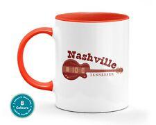 Nashville Red Guitar Music Mug Musician Office Gift Cup