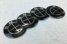 4Pcs 65mm Car Wheel Center Hub Caps emblem sticker Accessories for BMW Black