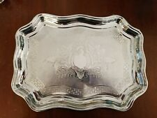 Vintage Swan Brand Chrome Plated Serving Tray