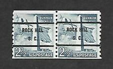 THE ROCK HILL, S.C. SCOTT# 1056-71 SMALL HOLE GAP PAIR WITH FULL GUM !!!!