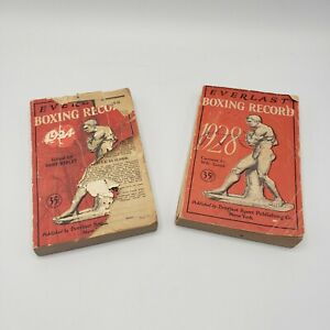Boxing Book Everlast Boxing Record Years 1924 & 1928 Soft Cover Lot