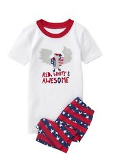 NWT Gymboree Boys Gymmies Star Spangled Days Red White And Awesome Eagle Size 8