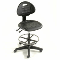 Ergonomic Rolling Stool Heavy Duty Polyurethane 5 Way Adjustable Task Chair