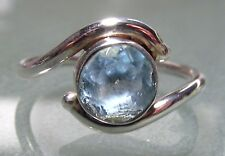 Sterling silver everyday cut blue topaz ring UK N½-¾/US 7-7.25