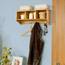 SoBuy® Étagère murale Porte-manteau en bambou avec Porte-serviettes, FRG48-N, FR