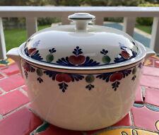 Adams Micratex England VERUSCHKA Round Covered Casserole Dish, Bowl Lid