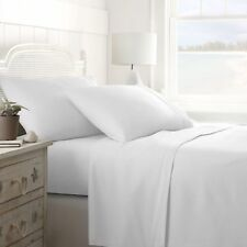 """1500 Count 100 Percent Best Egyptian Cotton """"White"""" Solid Sheet Set All US Size"""