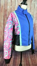 Vtg Cannondale 80's 90's Jacket Sz Medium Neon Windbreaker Coat full zip track